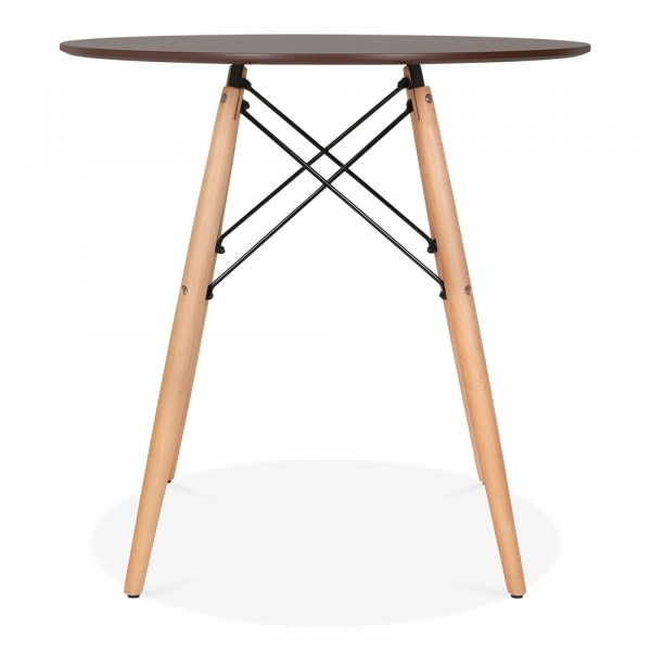 555953bded16 Iconic Designs Walnut DSW Style Dining Round Table - Diameter 70cm with  Natural Leg