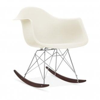 Off White RAR Style Rocker Chair