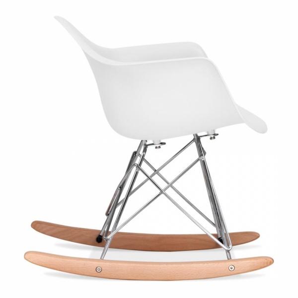 White Kids Rar Rocker Chair