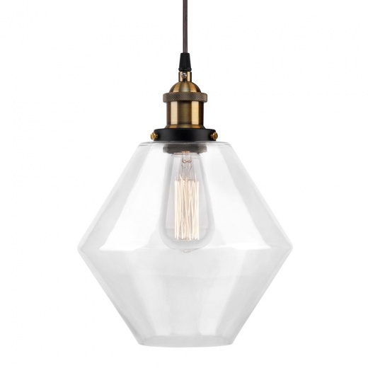 Cult Living Industrial Clear Glass Pendant Light - Diamond