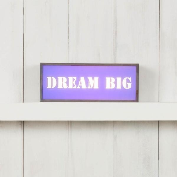 (Insert Only) For Small Rectangular Light Box - Dream Big