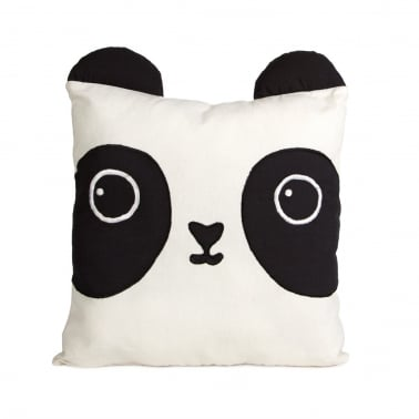 Kawaii Friends Aiko Panda Cotton Cushion, Black