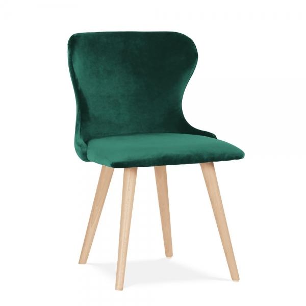forest green kensington velvet dining chair mid century chairs. Black Bedroom Furniture Sets. Home Design Ideas