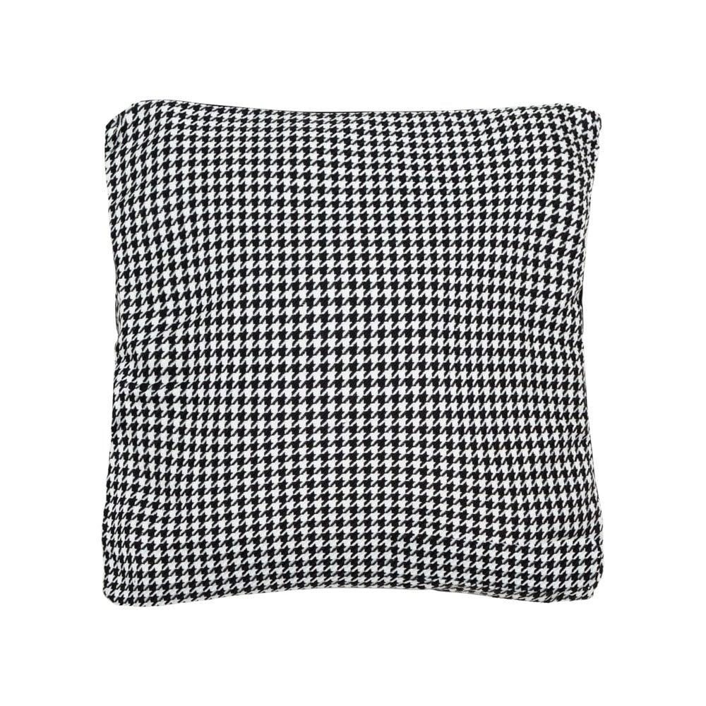 Houndstooth Print Large Velvet Cushion