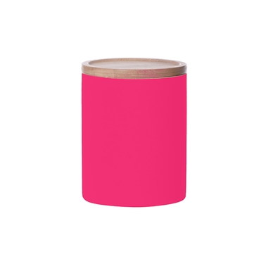Large Neon Kitchen Canister, Pink