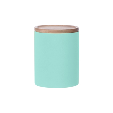 Large Neon Kitchen Canister, Turquoise