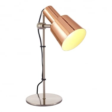 Lex Metal Sliding Desk Lamp, Copper