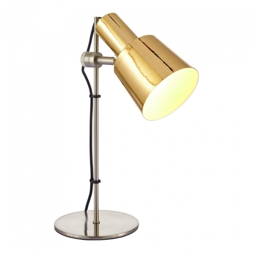 Cult Living Lex Metal Sliding Desk Lamp, Gold