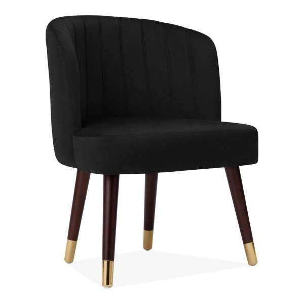 Pleasing Lola Accent Chair Velvet Upholstered Onyx Black Inzonedesignstudio Interior Chair Design Inzonedesignstudiocom