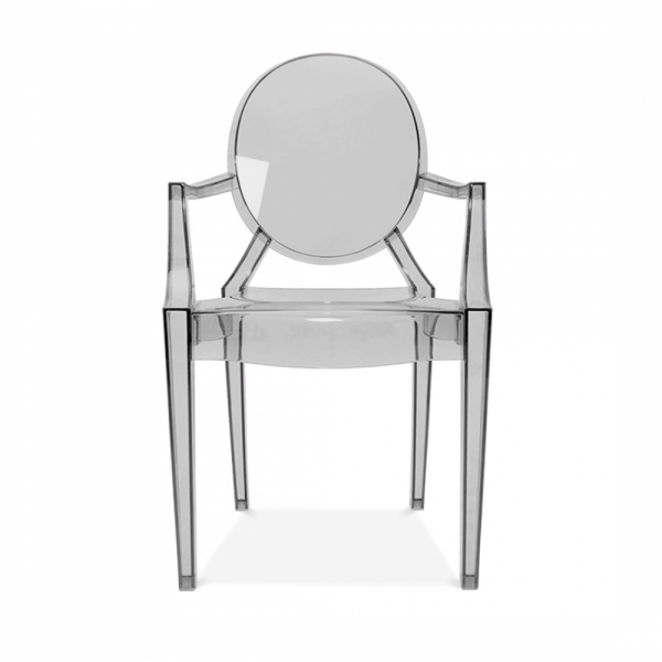 ghost style louis armchair black transparent modern armchairs