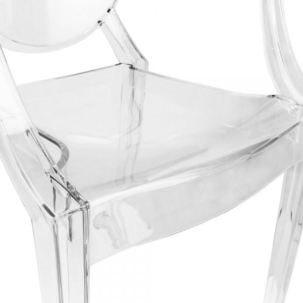 Ghost Louis Armchair   Clear