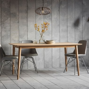 Lysia Dining Table Solid Oak Wood Natural