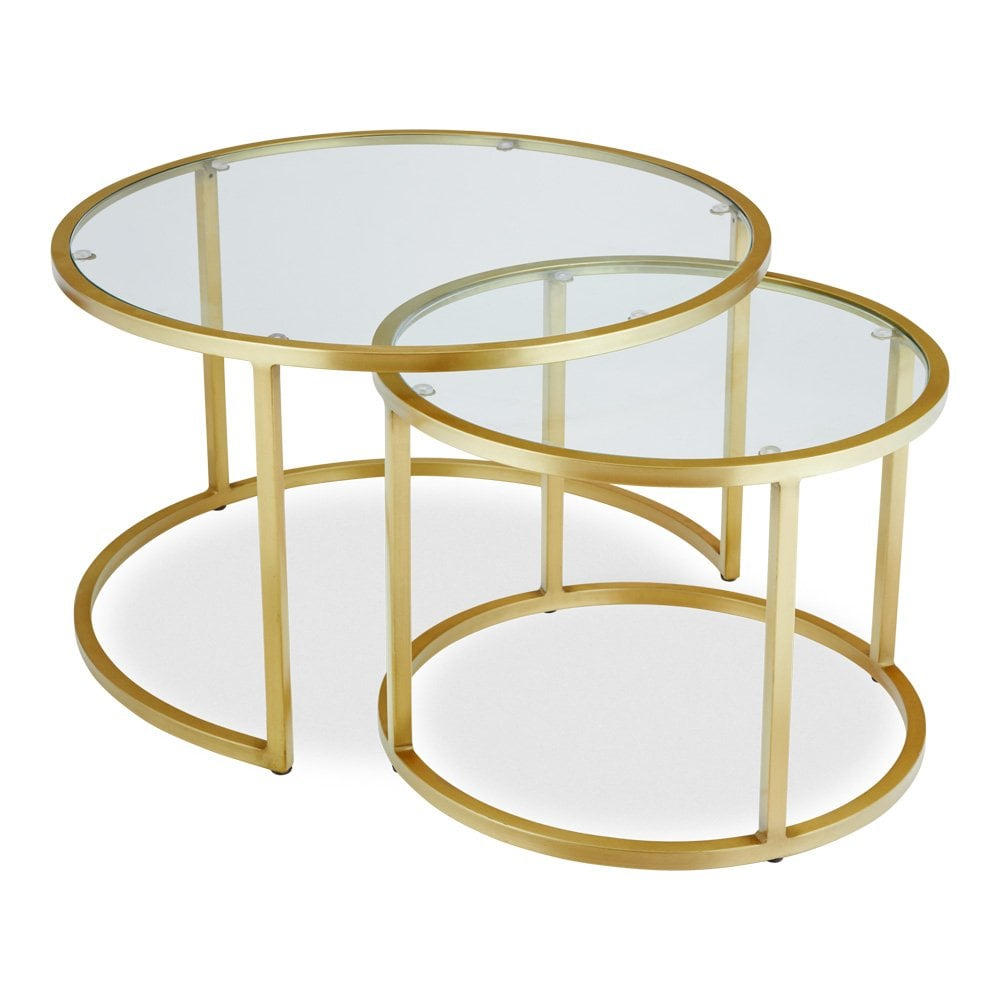 Glass Top Madison Round Coffee Table Modern Tables