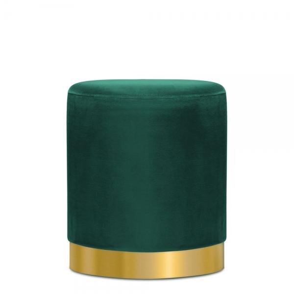 Fantastic Cult Living Marie Footstool Velvet Upholstered Forest Green Theyellowbook Wood Chair Design Ideas Theyellowbookinfo