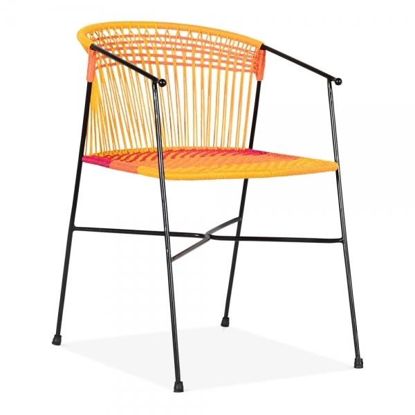 Classic Wooden Sofa Set, Multi Coloured Marisol Woven Garden Chair Outdoor Furniture