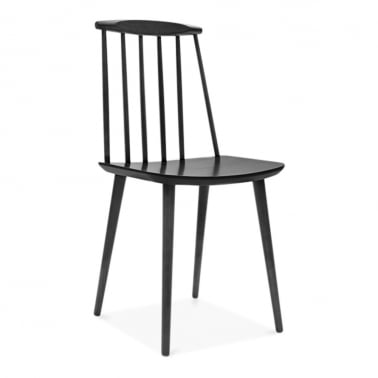 Mavis Wooden Dining Chair - Black