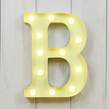 "Metal 11"" Mini L.E.D. Letter Lights B - Choice of Colour"