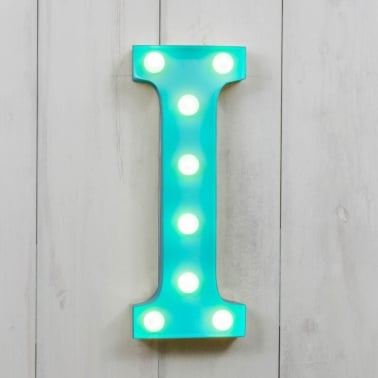 "Metal 11"" Mini L.E.D. Letter Lights I - Choice of Colour"