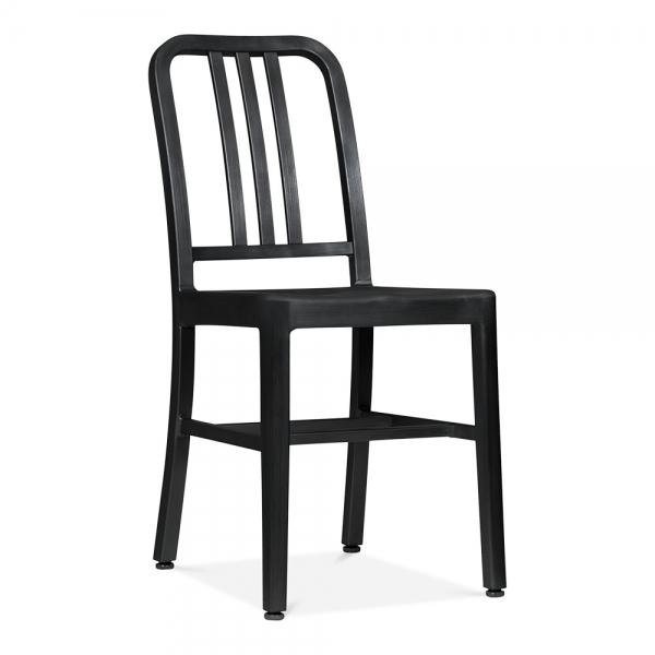 Metal Dining Chair 1006 Matte Black Restaurant Chairs