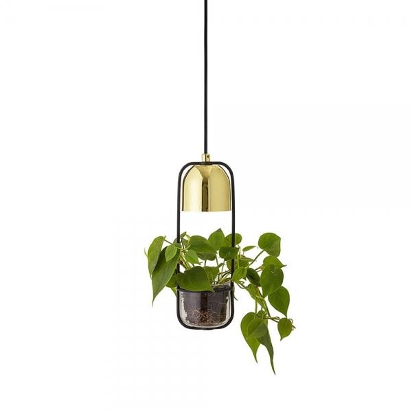 Black Gold Metal Hanging Lamp With