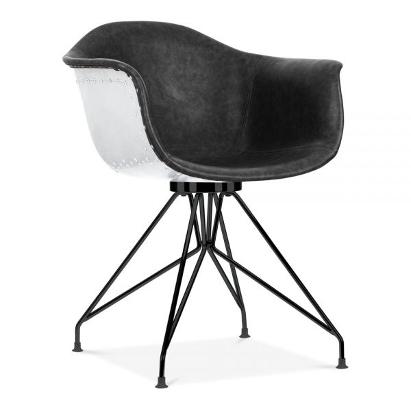 Moda Aviator CD1 Armchair Black Faux Leather | Cult ...