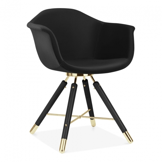 Cult Design Moda Velvet Upholstered Armchair CD5, Black