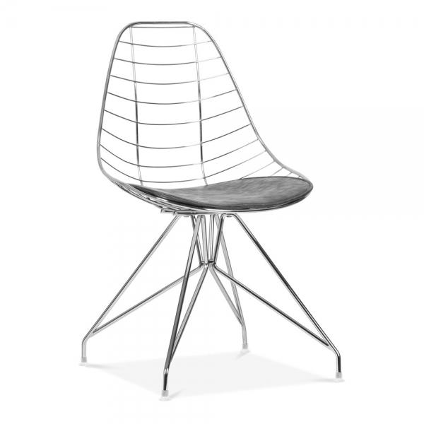 Terrific Moda Wire Metal Dining Chair Cd6 Chrome Short Links Chair Design For Home Short Linksinfo