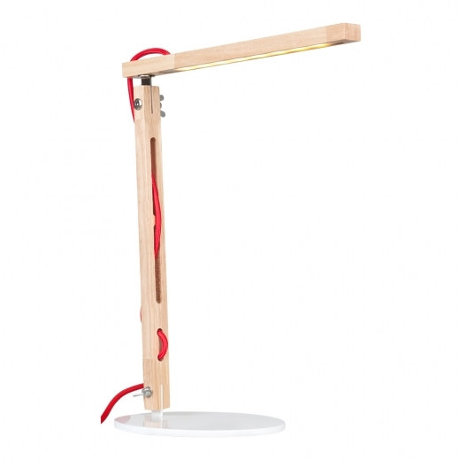 Cult Living Modish LED-Strip Wood Desk Lamp - Two Arms - Seconds Clearance Stock