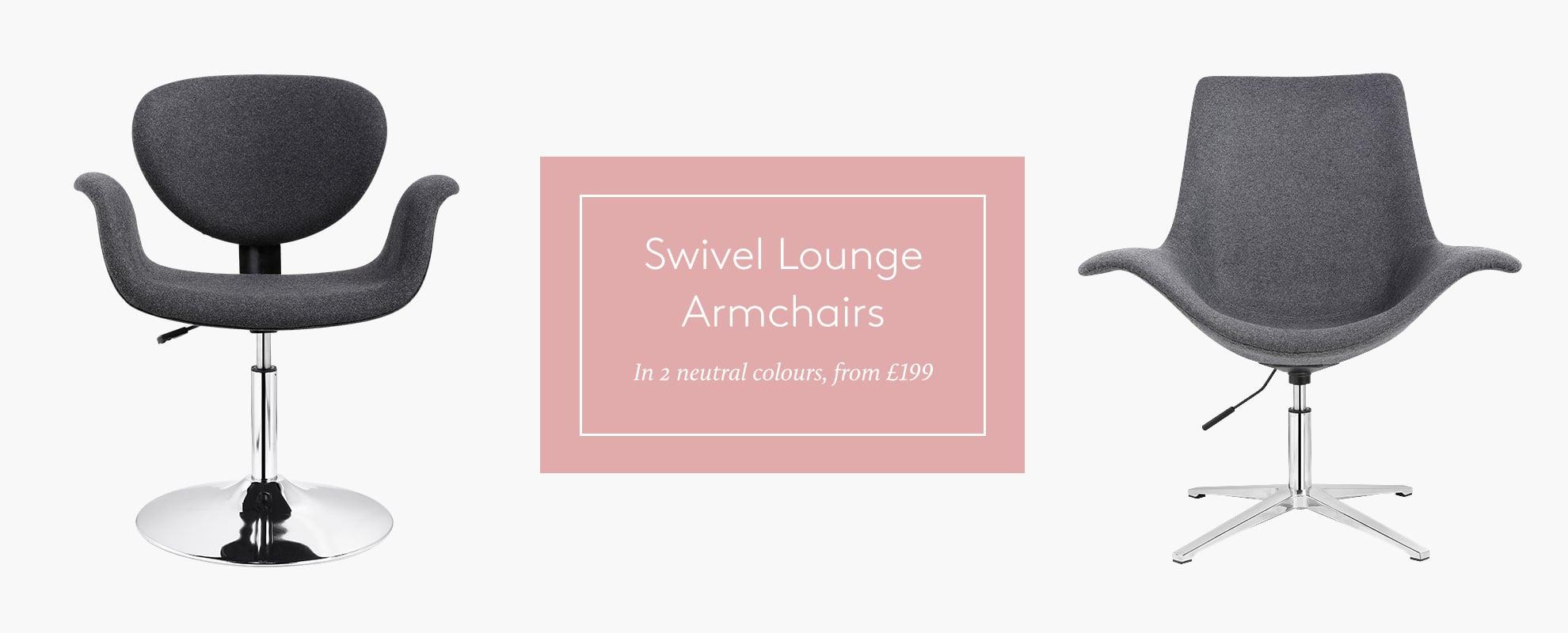 Swivel Lounge Armchairs