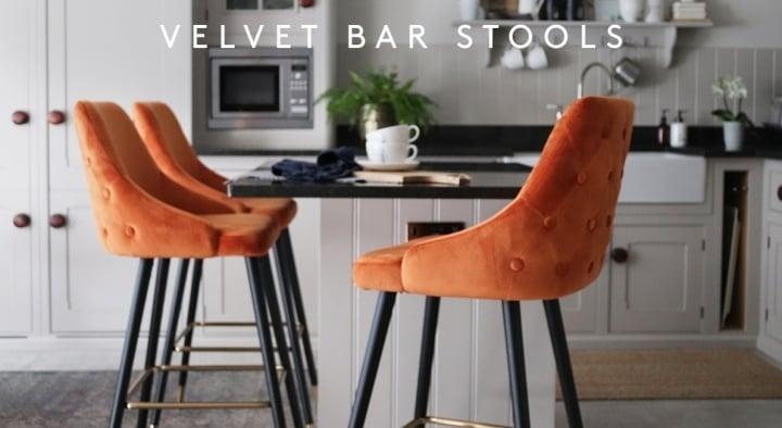 25e5ecf6bedb Velvet Bar Stools MB