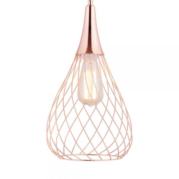 Copper Nova Small Cage Pendant Light