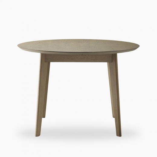 Grey Novato Round Dining Table 110cm, Round Table Novato