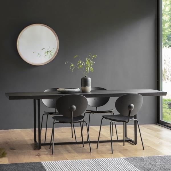 Black Novato Rectangle Dining Table, Round Table Novato