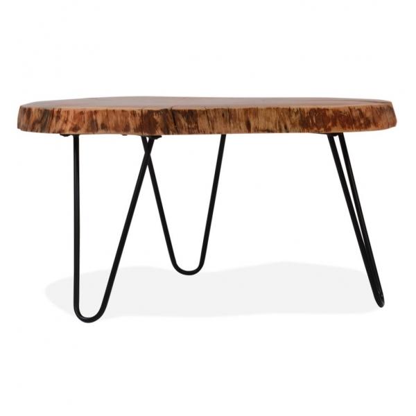 Black Live Edge Coffee Table: Black Olympia Live Edge Coffee Table