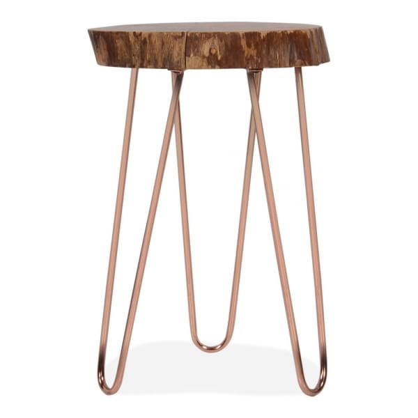 Copper Olympia Live Edge Side Table Side Tables Amp End Tables