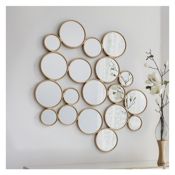 Gold Ophelia Decorative Wall Mirror | Statement Wall Mirrors