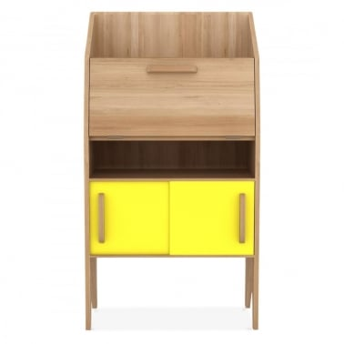 Origami Desk 2 sliding doors / 2 drawers - Yellow