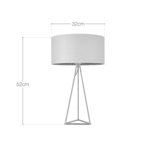 Superb Orion Geometric Tripod Table Lamp, Gold And White