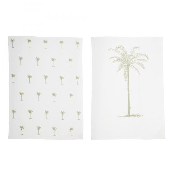 Palm Tree Kitchen Tea Towels, Set of 2