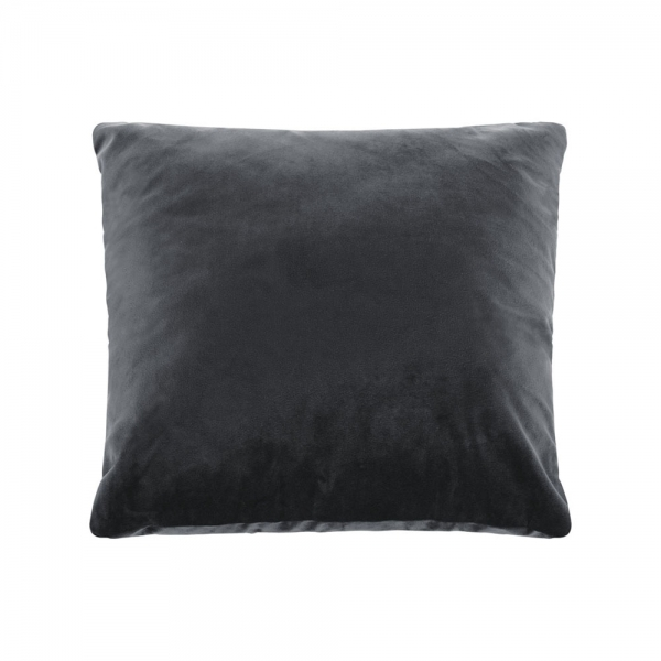 Cult Living Plain Large Cushion, Velvet Fabric, Charcoal Grey