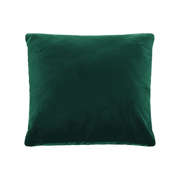 Cult Living Plain Large Cushion, Velvet Fabric, Forest Green