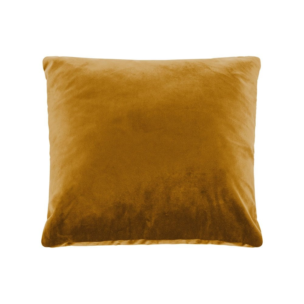 Cult Living Plain Large Cushion, Velvet Fabric, Mustard