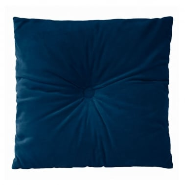 Plush Velvet Fabric Cushion, Blue