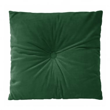 Plush Velvet Fabric Cushion, Green