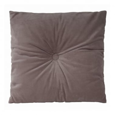 Plush Velvet Fabric Cushion Grey