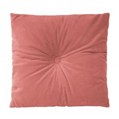 Plush Velvet Fabric Cushion, Pink