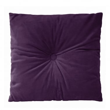 Plush Velvet Fabric Cushion, Purple