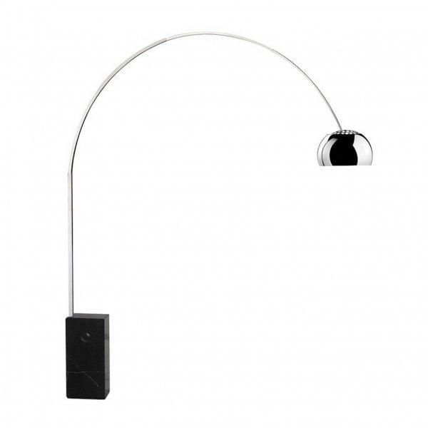 Achille Castiglioni Medium Arco Style Floor Lamp Rectangular Marble Base