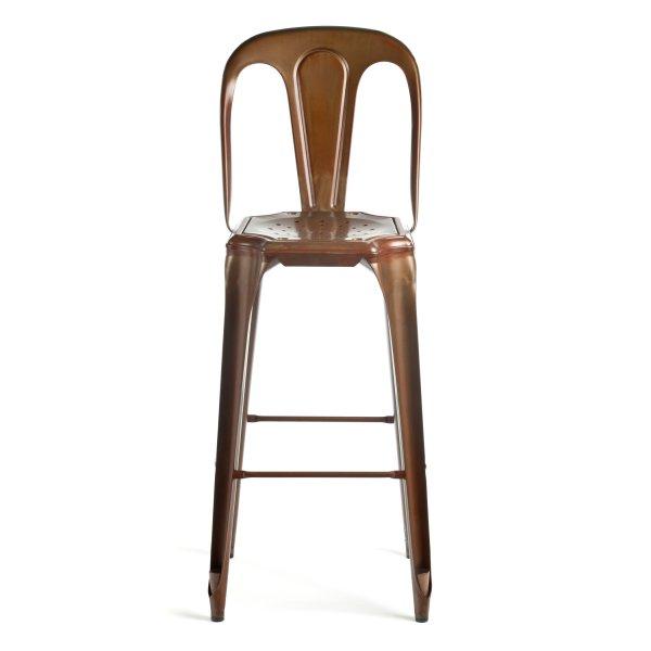 Les meubles vintage copper multipl stool with back rest for Le meuble furniture