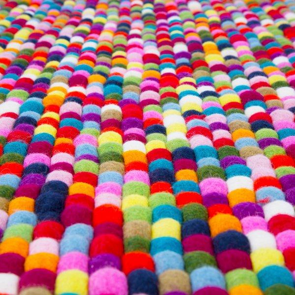 Ikea Rug Felt: Rectangle Multi Coloured Felt Ball Rug